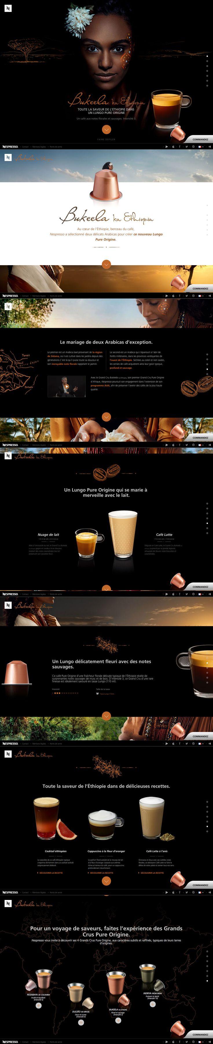 Webdesign Nespresso Bukeela