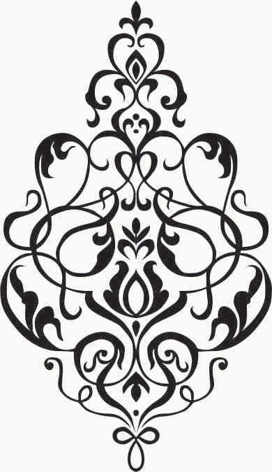 Medium Damask Wall Decals Vinyl Sticker by NothinbutVinyl on Etsy