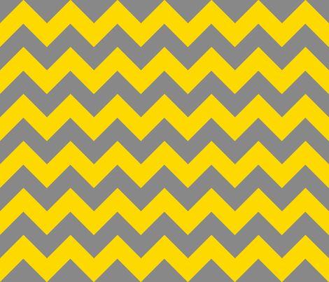 Chevrons Yellow and Grey fabric by juliesfabrics on Spoonflower - custom fabric