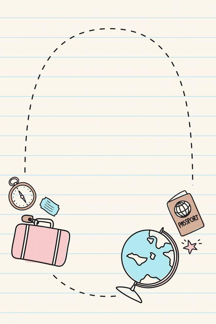 Download Der Kostenlosen Vektor Von Hand Gezeichnet Reise Element Hintergrund Vektor Set In 2020 Travel Doodles How To Draw Hands Bullet Journal Banner