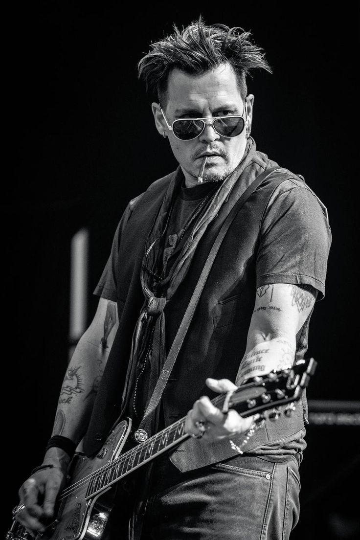 Johnny Depp during pre-tour rehearsals for The Hollywood Vampires in Verona, NY.  Photo by Zack Whitford, 2016