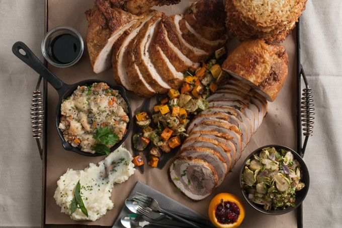 Thanksgiving dinner minus the dirty dishes and grocery shopping: 15 Top Thanksgiving Dinner Take-Out Specials In Philly (Photo by D.MacNeil for Di Bruno Bros.)
