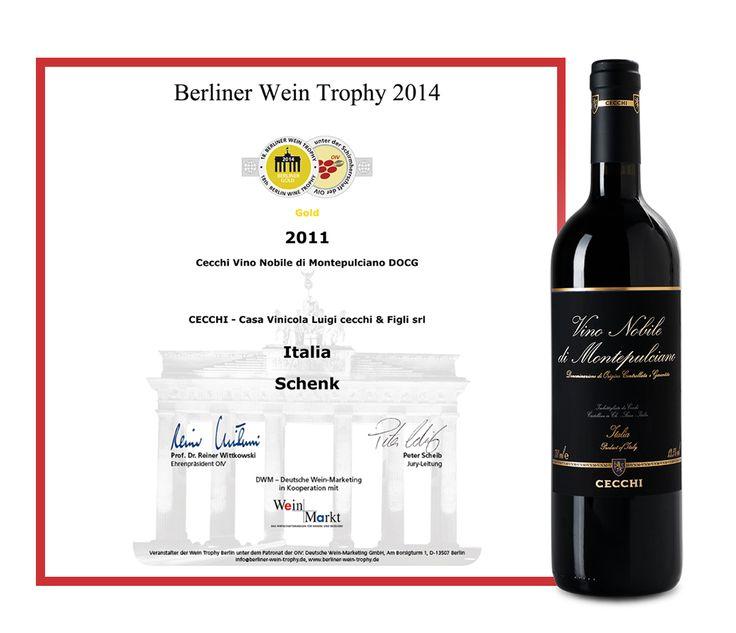 Berliner Wein Gold Trophy for Cecchi Vino Nobile di Montepulciano 2011 DOCG