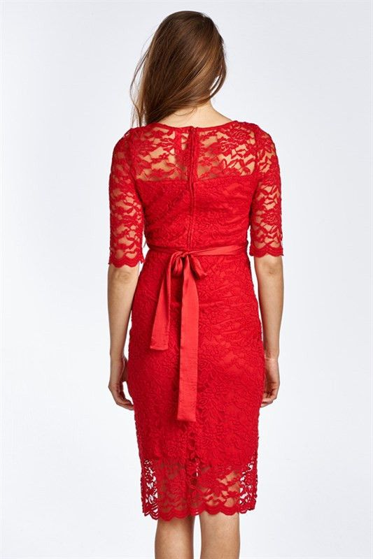 Red Floral Lace Maternity Dress – Mommylicious Maternity @bemommyicious