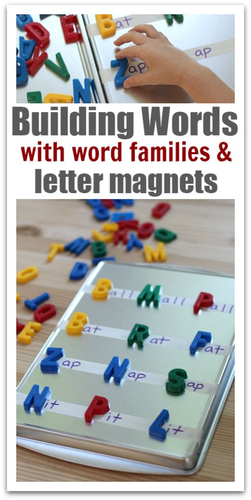 Great word family activity for kids.