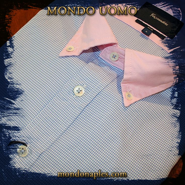 #mondouomo #naples #dressshirt #france #faconnable #collared #menswear #houndstooth #patterned