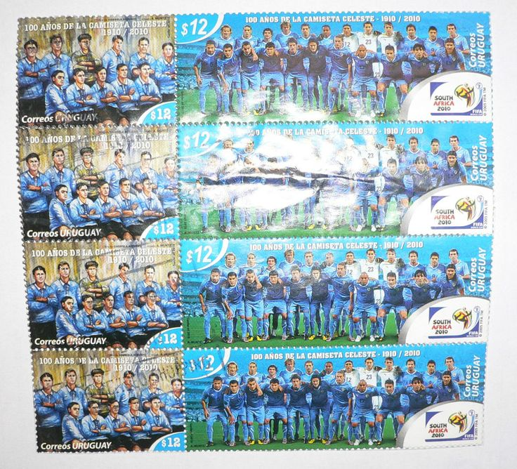 2010 FIFA South Africa World Cup Uruguay National Team 100 Years_Anos STAMPS X 4  | eBay