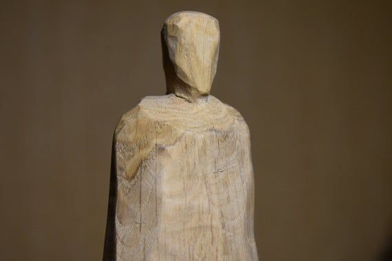 Brutalist Sculpture Pagan Slavic Goddess Baba Yaga Altar Goddess Wiccan Decor Pagan Altar Goddess Statue Viking Wood Goddess