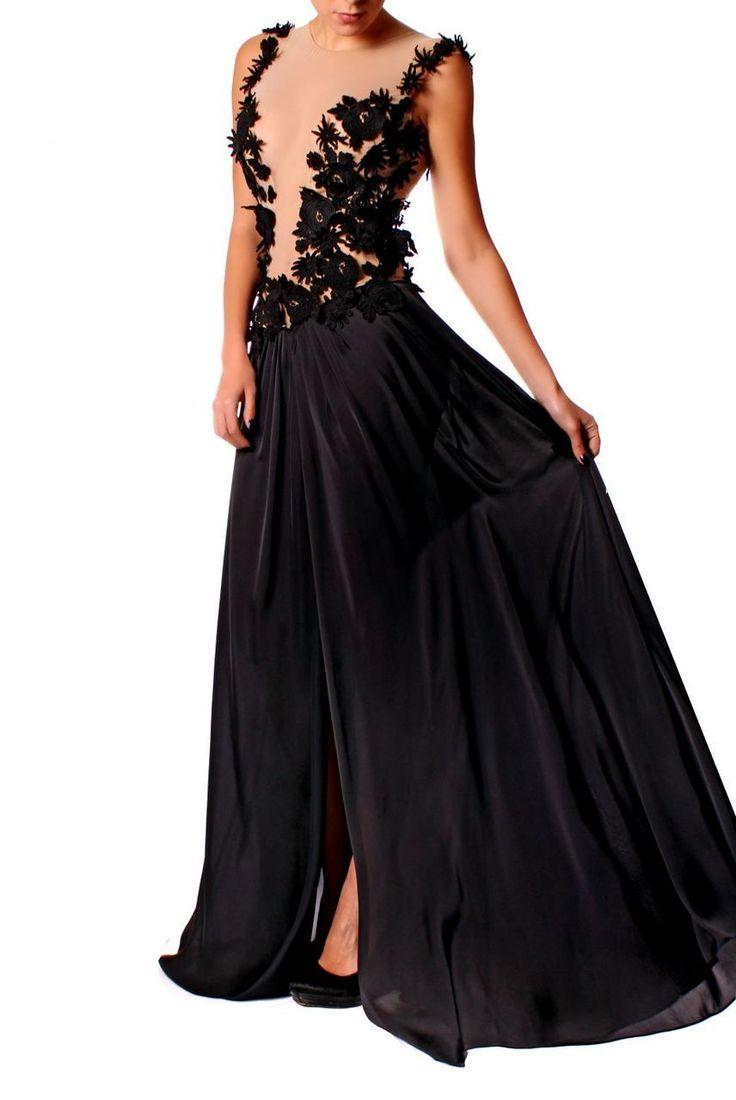 Black Dahlia Dress - Baronesa Fashion House