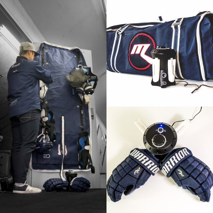 Perfect for ice hockey players – #industrialdesign by Christopher Wong of a specialised bag and drying device.