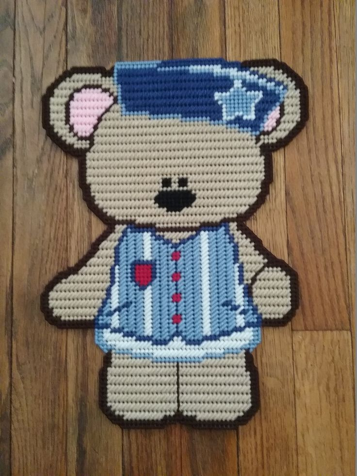 "~""Jared Bear""~Sewn By: Donna Werner"