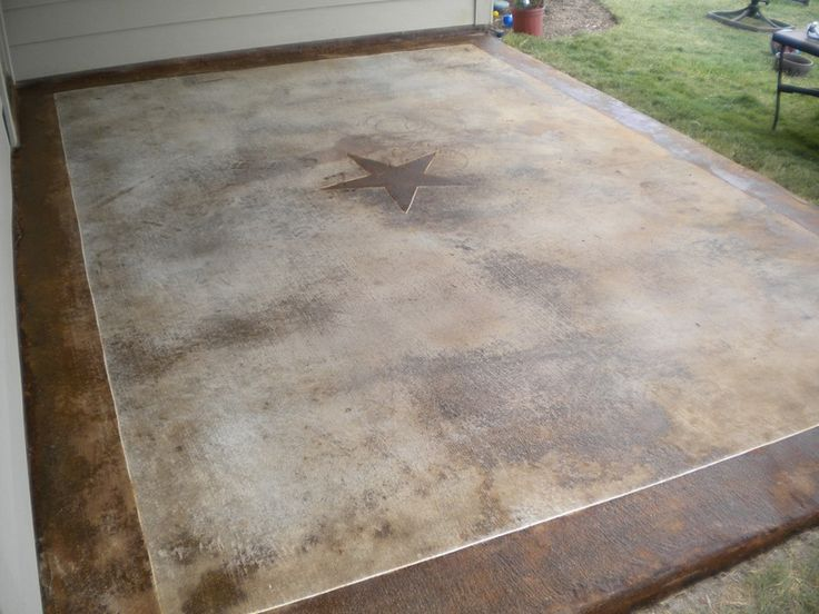 100 best landscaping ideas images on pinterest   backyard ideas ... - Stained Concrete Patio Designs