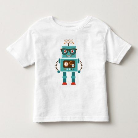 Hipster Robot Number 5 Toddler T-shirt - click to get yours right now!