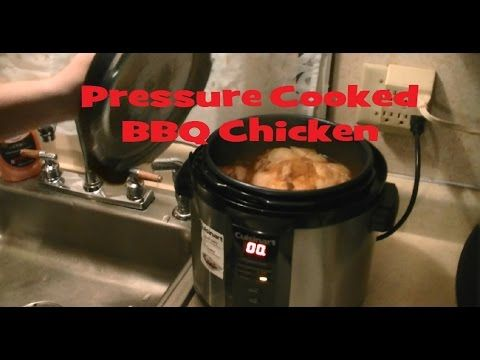 How to cook a Whole Chicken Fast. Cooking in a Cuisinart Pressure Cooker. Barbecue Flavor with Sweet Baby Rays BBQ Sauce. http://www.shopatnite.com