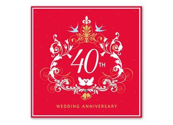 Ruby Wedding Anniversary Gifts on Pinterest 40th anniversary gifts ...