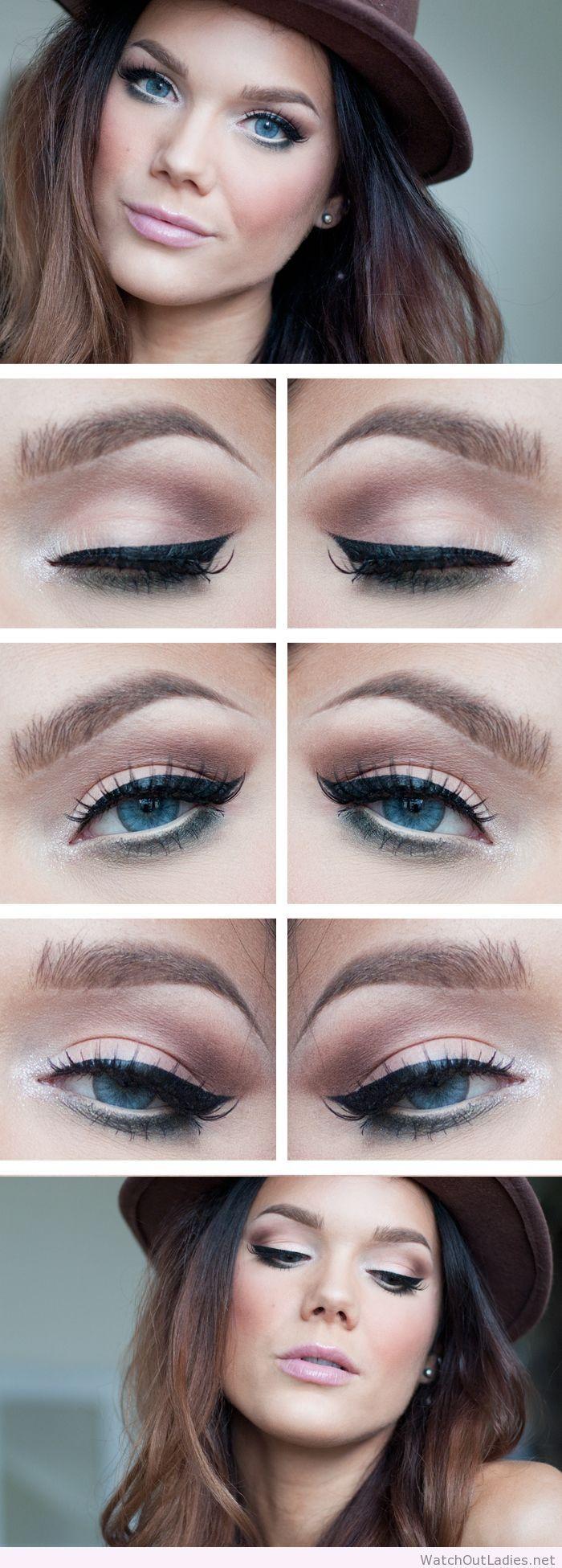 Linda Hallberg natural eye makeup with black