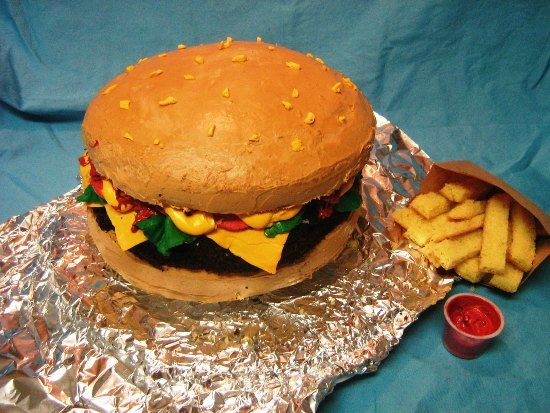 Hamburger Cake 7