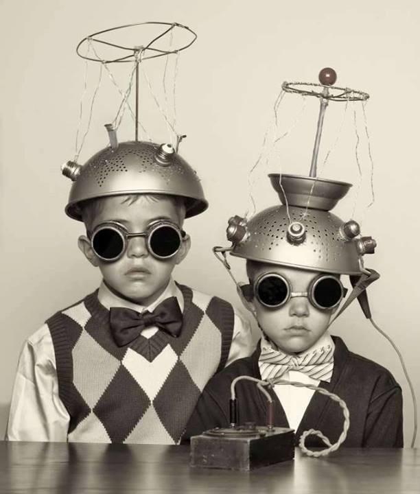 Colander helmets. Fabulous.