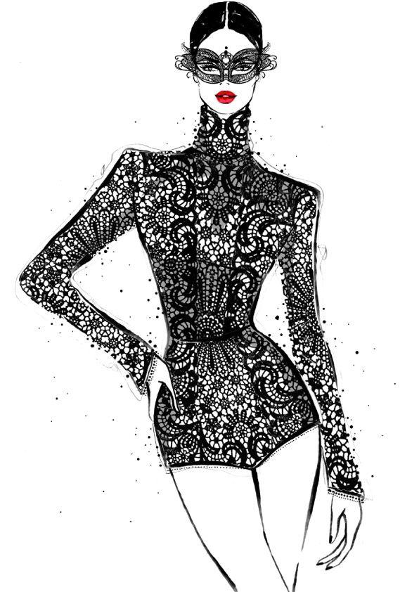 Fashion illustration - Megan Hess' Paris-inspired fashion illustrations