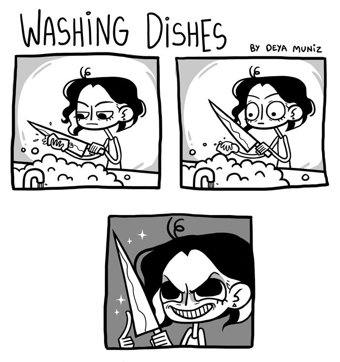 Brutally Honest :: Washing Dishes | Tapastic Comics