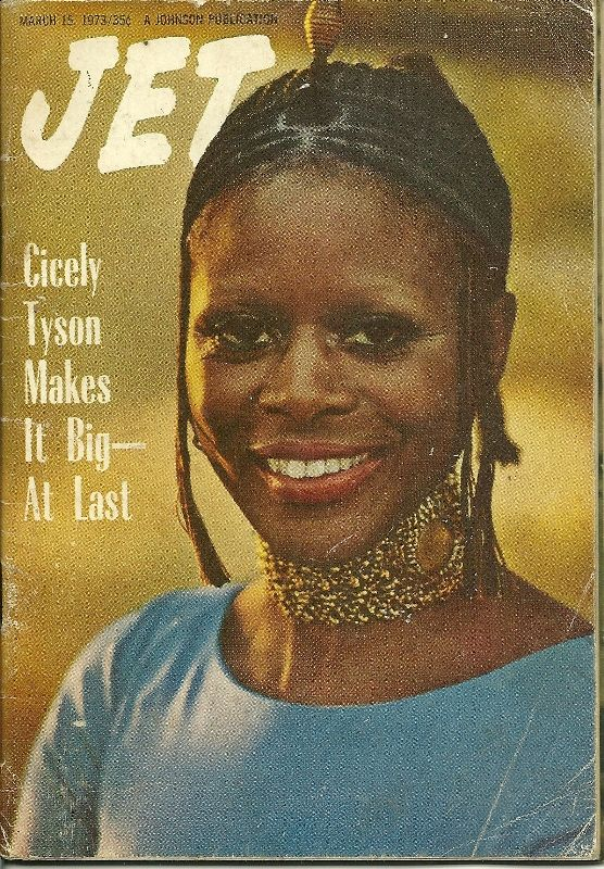 """Cicely Tyson 1973 Braids. Cicely Tyson - Jet Magazine Cover 19731963: Actress Cicely Tyson wears cornrows on the television drama """"East Side/West Side."""""""