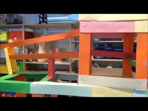 Opdracht Techniek, knikkerbaan, Lerarenopleiding Basisonderwijs Windesheim - YouTube