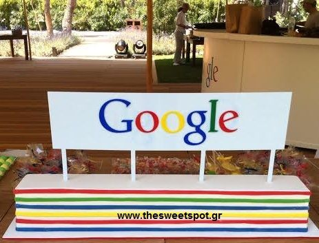 custom-made #cake for #Google candy bar! Event organised by Just Celebrate at Tatoi club Athens