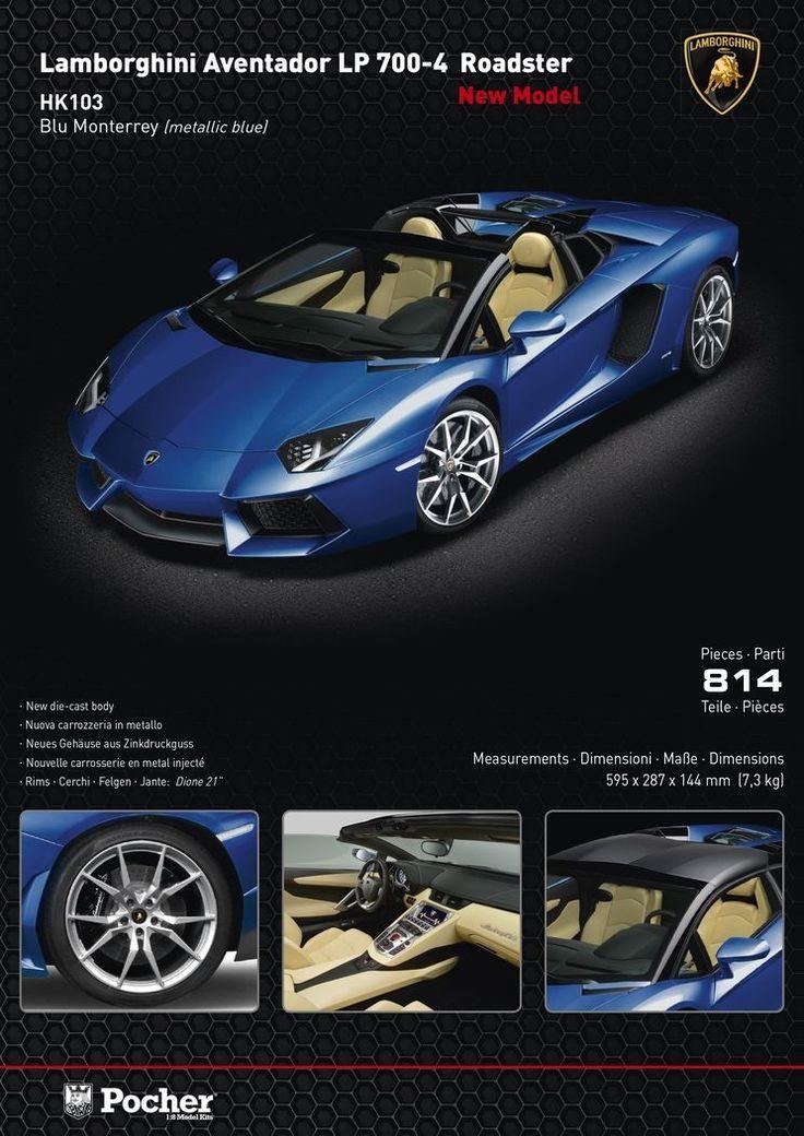 #POCHER presents the NEW #LamborghiniAVENTADOR aviable online: http://www.hornby.it/pocher-hk103.html