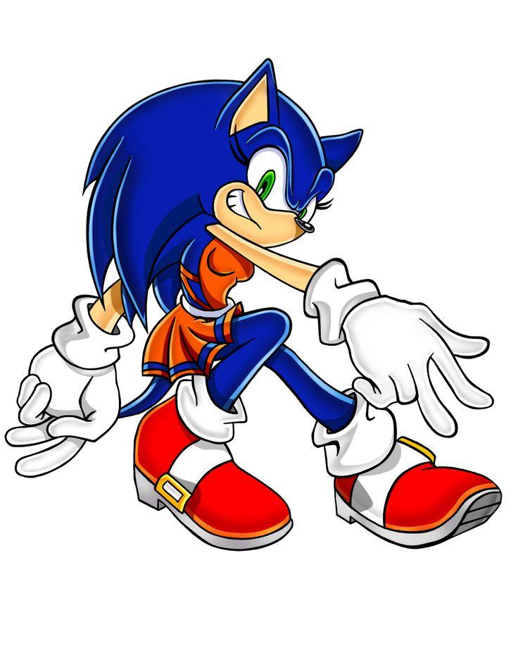Sonic the Hedgehog Gender Bender by Sorikku za Hejjihoggu.  Soric the Hedgehog [SACArt]