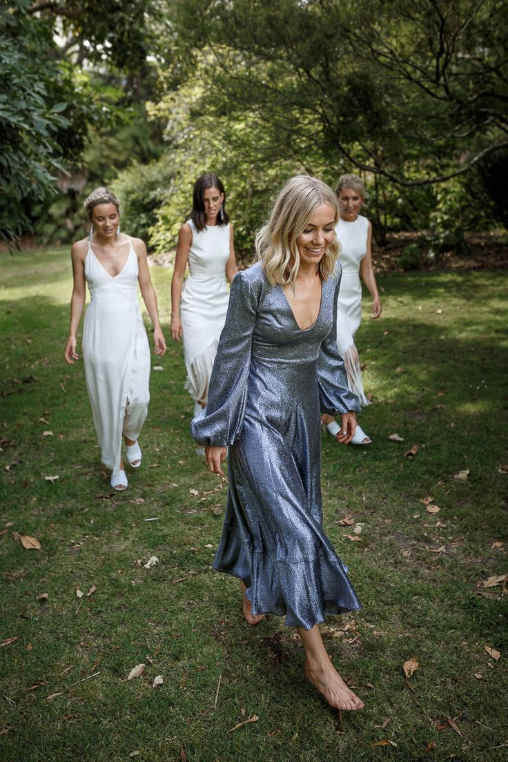 Silver bride with her brides maids
