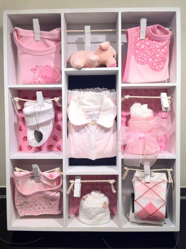 Gevulde Letterbak, Kraamcadeau meisje / Babyshower Gift Girl. Info: http://joleenskraamcadeaus.wix.com/kraamcadeau#!product/prd1/1661927425/gevulde-letterbak