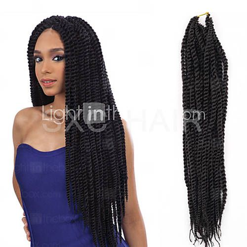 Black / Dark Brown / 1B Havana Twist Braids Hair Extensions Kanekalon Strand gram Hair Braids