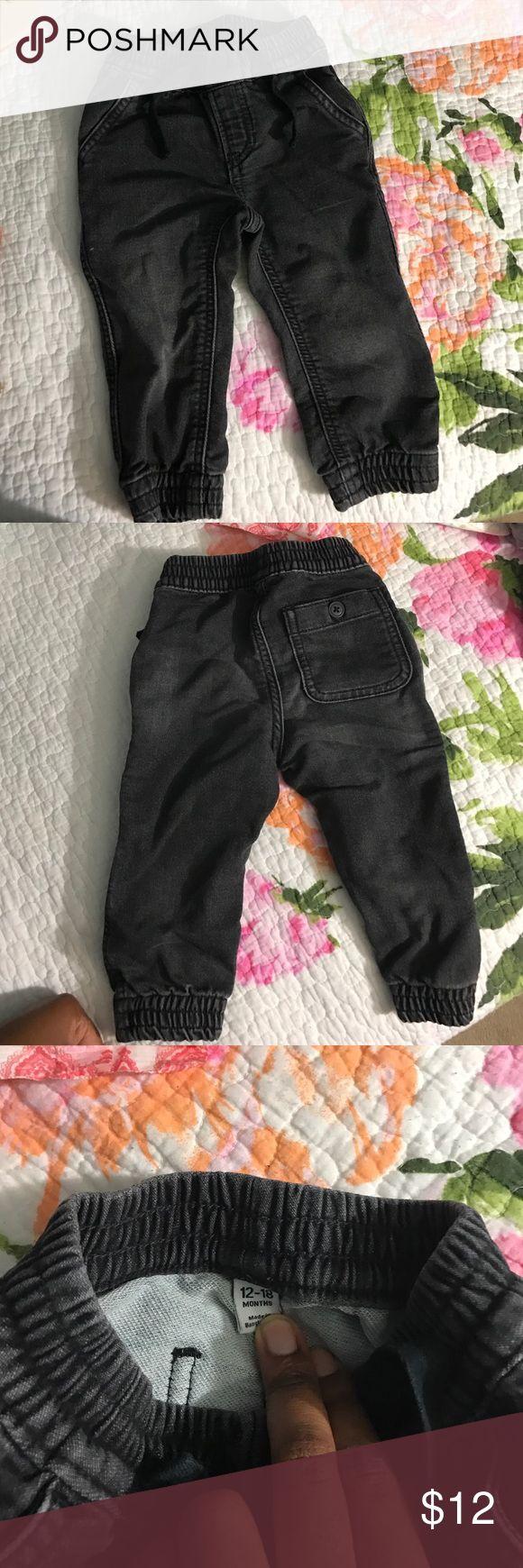 Baby Boy Baby Gap Denjm Jogger Pants Black denim jogger pants Bottoms Jeans