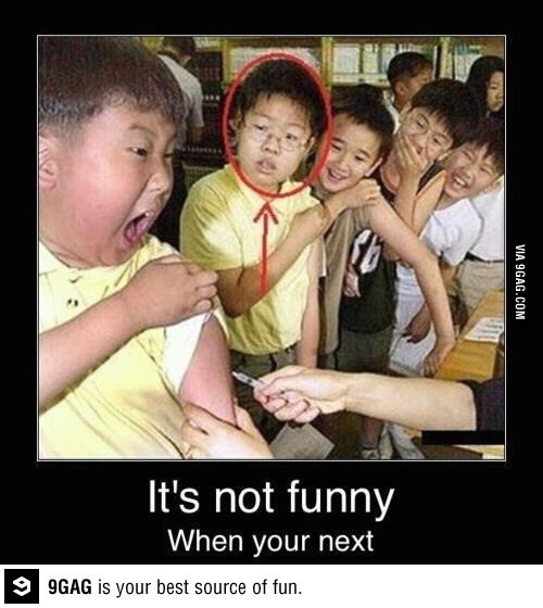 Its not funny when you are next