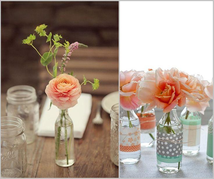 Simple blooms in sweet Bottles
