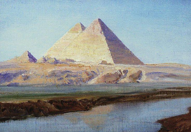 Vasily Polenov - Grande Pyramide de Kheops et Khephren