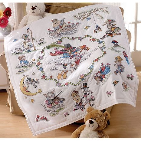 19 best St&ed crossstitch quilts images on Pinterest   3/4 beds ... : stamped cross stitch lap quilts - Adamdwight.com