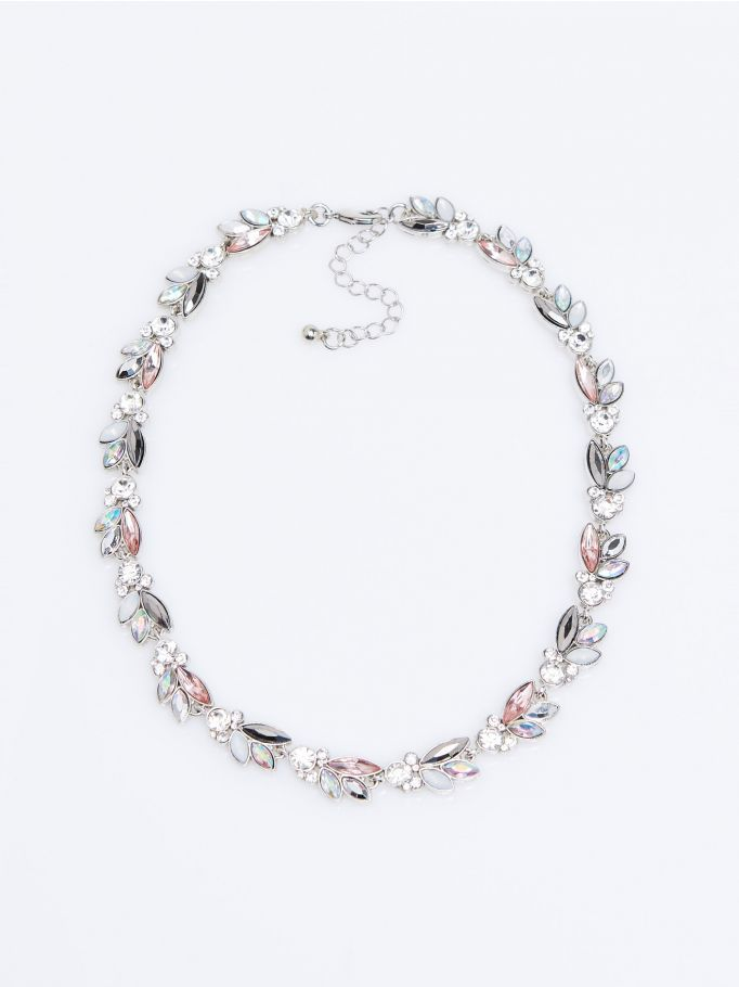 Necklace with rhinestones, MOHITO
