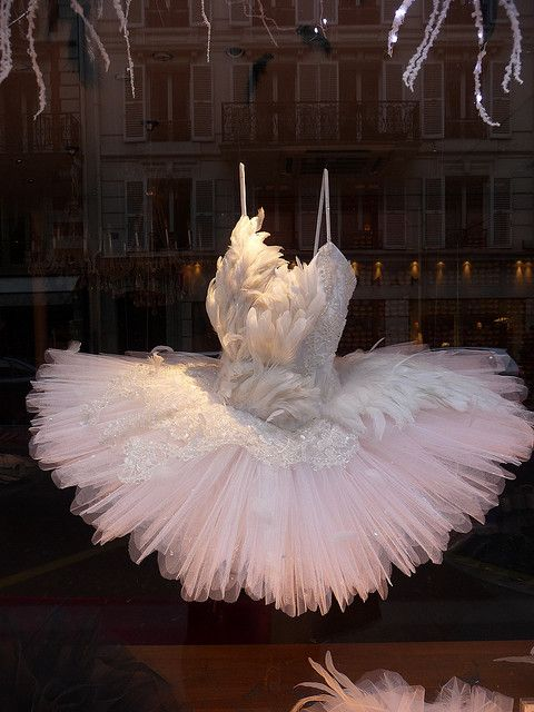 Feather tutu from Repetto, Paris | photo tsilah #ballet #tutu