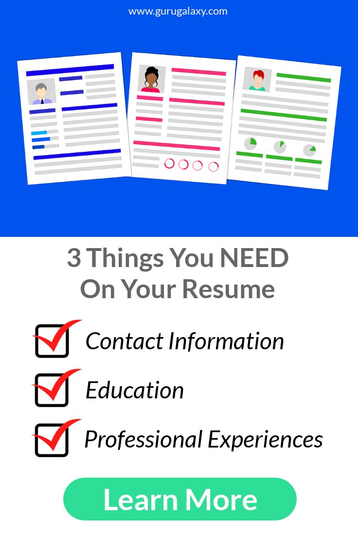 3 Things you NEED on your Resume! Don't be passed over in