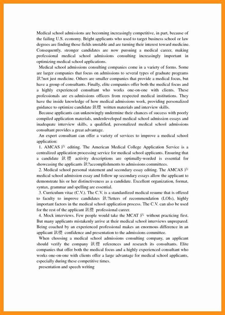 Medical school resume example unique med school