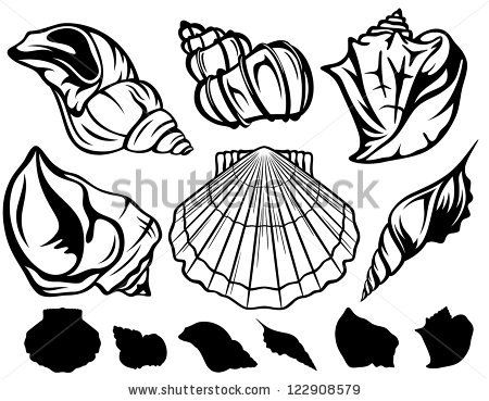 shell fish silhouettes Google