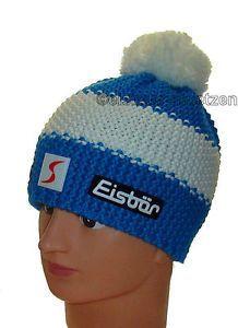 Eisbaer-Muetze-Austria-Ski-Team-STAR-POMPON-Skimuetze-Damen-Herren-Bommel-Muetzen