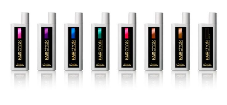 L'Oréal Professionnel Hairchalk comes in 5 bright fun shades, and 3 Natural shades and really looks amazing when you use it....
