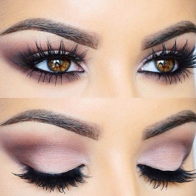 """Plums accentuate brown eyes beautifully by @amrezy BROWS: #BrowWiz ""Brunette""…"