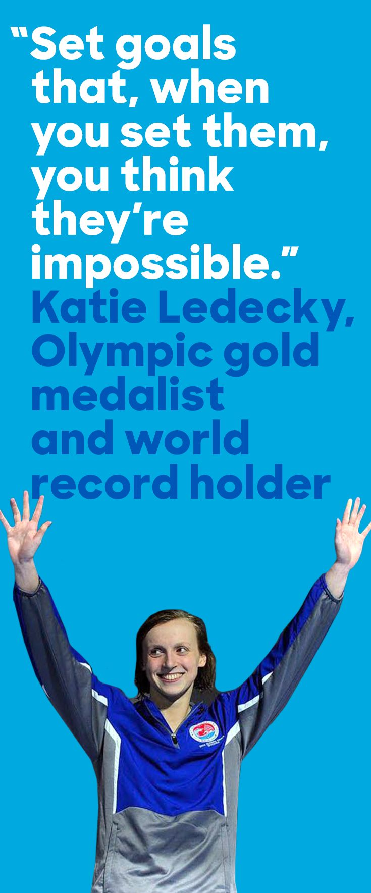 Last night in Rio, swimmer Katie Ledecky won gold—and broke her own world record in the 400 meter freestyle. Congratulations, Katie!