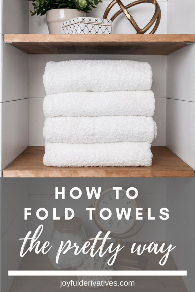How To Fold Towels 2 Simple Pretty Ways How To Fold Towels