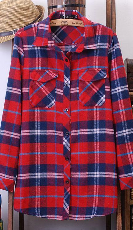 Vibrant atmosphere plaid shirts 8912