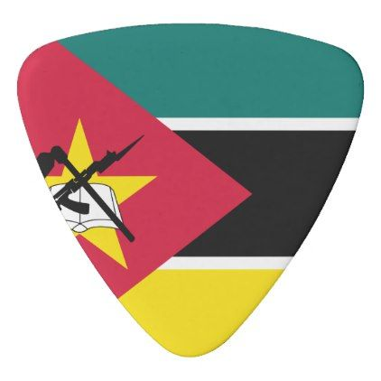 #Mozambique Flag Guitar Pick - cyo customize design idea do it yourself