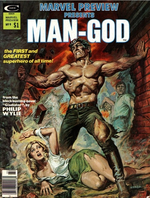 Marvel Preview #9, 1976, cover by Earl Norem.Comics Art, Comics Book, Mangod, Comics Covers, Norem Earl, Book Covers, Earl Norem, Covers Marvel, Marvel Preview